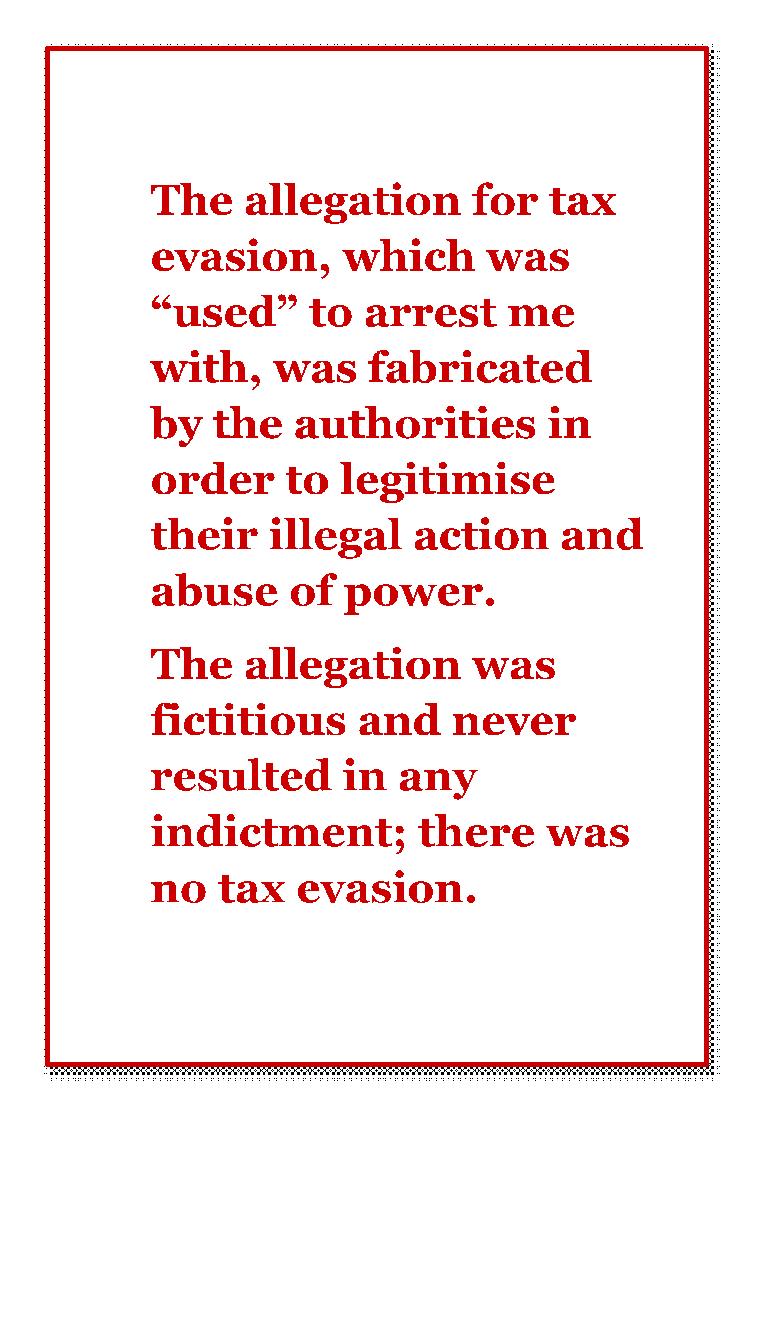 Tax evasion a lie