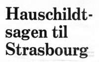 Hauschildt Case in Strasbourg, Denmark convicted at the European Court of Human Rights for the first time -Dainsh Injustice